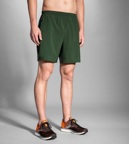 "Brooks Running Go-To 7"" Short SPRUCE/BLACK MEN"