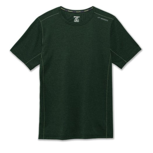 Brooks Running Ghost Short Sleeve HEATHER SPRUCE MEN