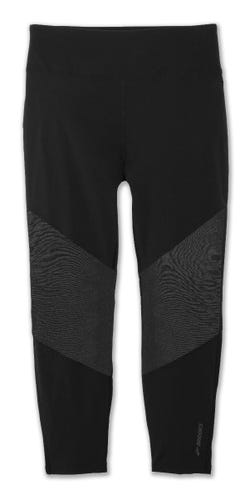 Brooks Running Ghost High-Waist Mesh Crop BLACK Ladies