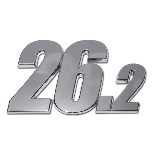 ROCK N ROLL MARATHON SERIES 26.2 CHROME AUTO EMBLEM