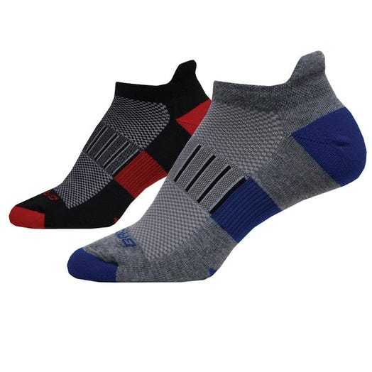 Brooks Running Ghost Midweight 2-Pack Sock Unisex Black/RedHeather