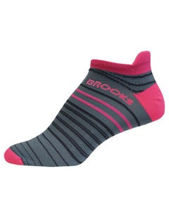 Brooks Running Launch Lightweight Tab Sock Unisex Oxford/BritePink