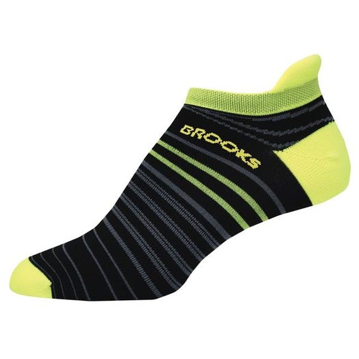 Brooks Running Launch Lightweight Tab Sock Unisex Black/Nightlife
