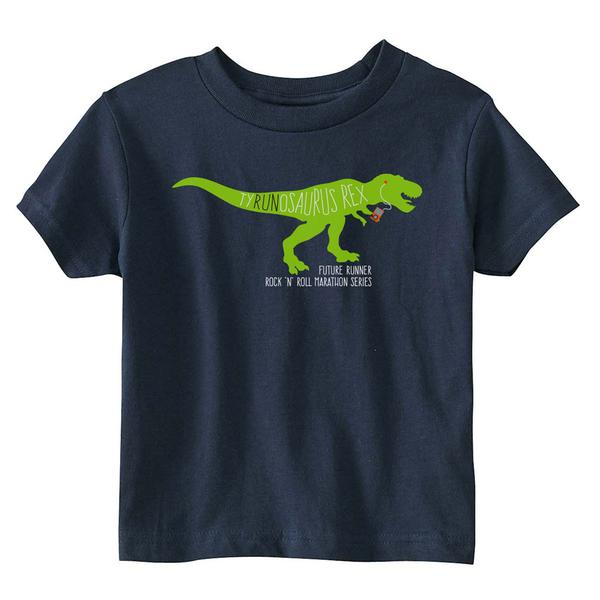 ROCK N ROLL MARATHON SERIES DINO TEE NAVY/PURPLE Toddler