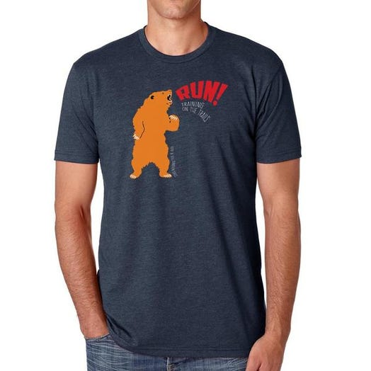 ROCK N ROLL MARATHON SERIES BEAR TRAIL TEE NAVY UNISEX