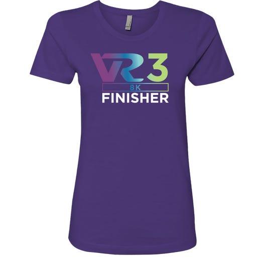 Rock n Roll Running Series Women's VR3 8K Finisher Graphic Tee