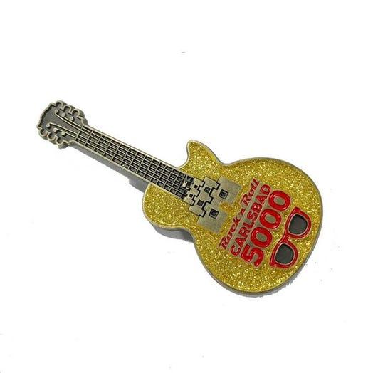 ROCK N ROLL MARATHON SERIES CARLSBAD 5000 EVENT GUITAR PIN