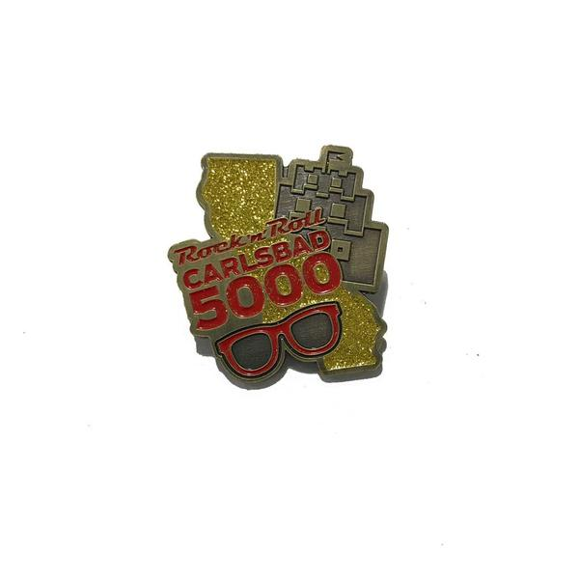 ROCK N ROLL MARATHON SERIES CARLSBAD 5000 EVENT MEDAL PIN
