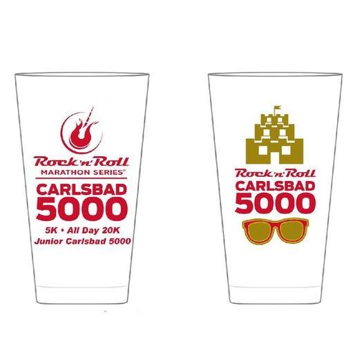 ROCK N ROLL MARATHON SERIES CARLSBAD 5000 EVENT PINT GLASS