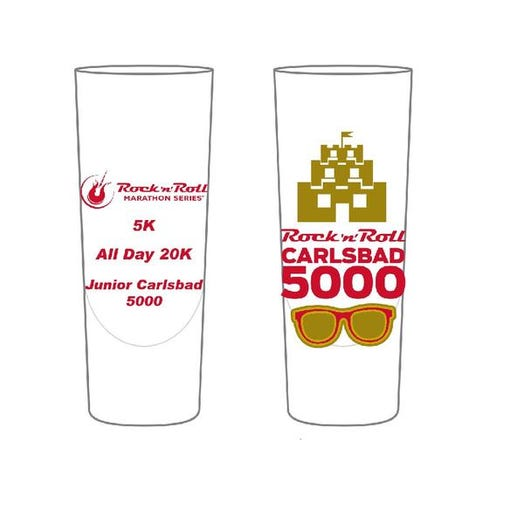 ROCK N ROLL MARATHON SERIES CARLSBAD 5000 EVENT SHOT GLASS