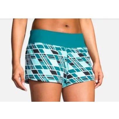 "Brooks Running Ladies Chaser 3"" Short Ocean Wave"