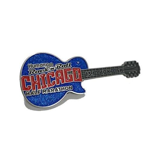ROCK N ROLL MARATHON SERIES CHICAGO GUITAR PIN