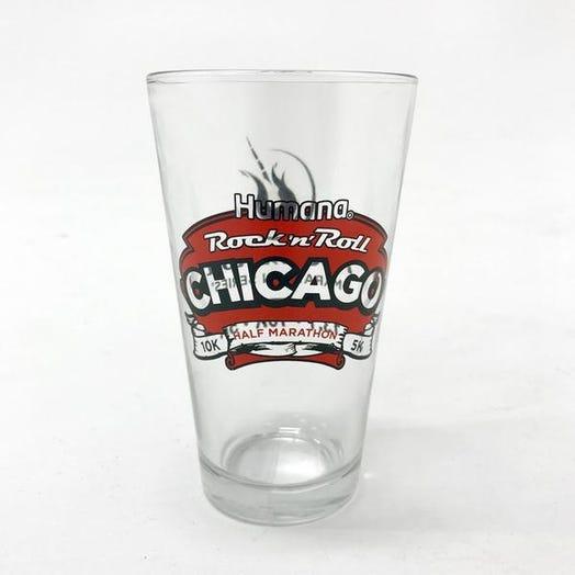 ROCK N ROLL MARATHON SERIES CHICAGO PINT GLASS