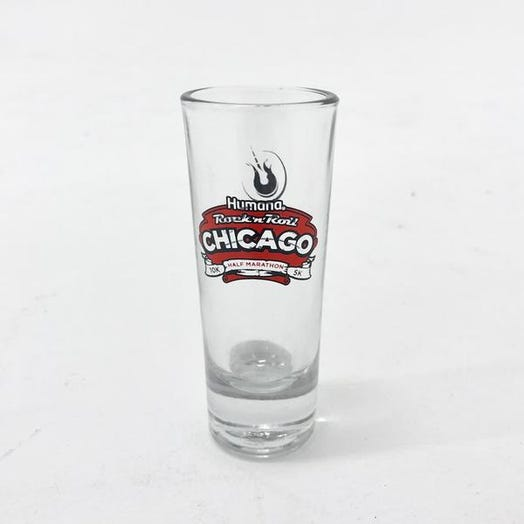 ROCK N ROLL MARATHON SERIES CHICAGO EVENT SHOT GLASS
