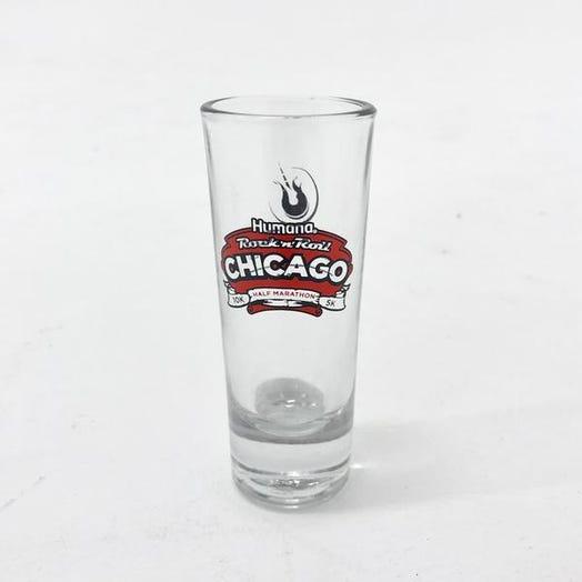 ROCK N ROLL MARATHON SERIES CHICAGO EVENT SHOT GLASS
