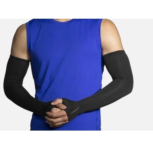Brooks Running Unisex Dash Arm Warmer - Black