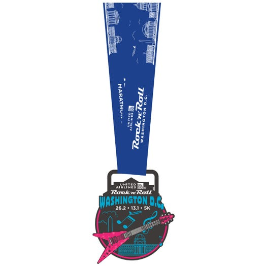 ROCK N ROLL MARATHON SERIES WASHINGTON DC 2019 EVENT MINI MEDAL PIN