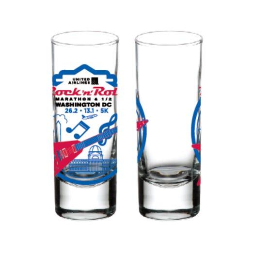 ROCK N ROLL MARATHON SERIES WASHINGTON DC 2019 EVENT SHOT GLASS