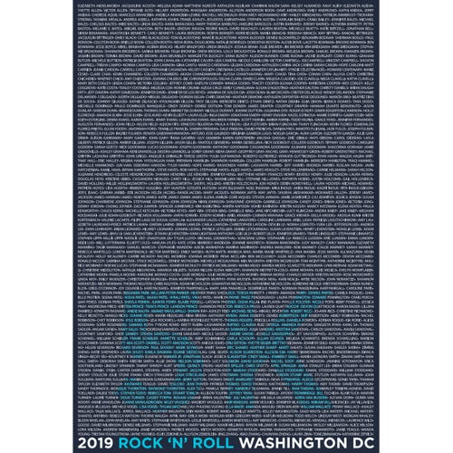 ROCK N ROLL MARATHON SERIES WASHINGTON DC 2019 WOMEN'S 5K SHORT SLEEVE NAME TEE