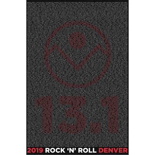 ROCK N ROLL MARATHON SERIES DENVER 2019 MEN'S 13.1K NAME HOODIE