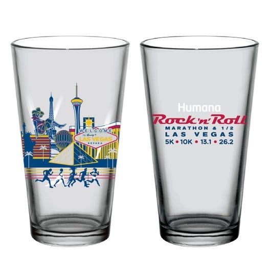 ROCK N ROLL MARATHON SERIES LAS VEGAS CITY PINT GLASS