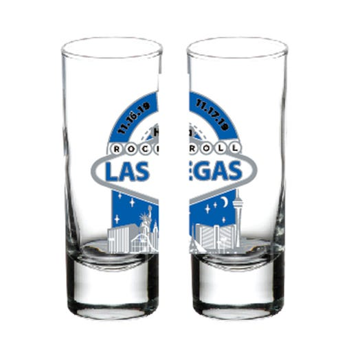 ROCK N ROLL MARATHON SERIES LAS VEGAS MEDAL SHOT GLASS