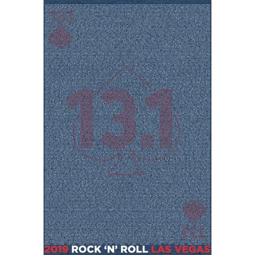ROCK N ROLL MARATHON SERIES LAS VEGAS 2019 MEN'S 13.1K A-K NAME TEE