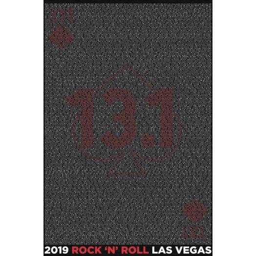 ROCK N ROLL MARATHON SERIES LAS VEGAS 2019 MEN'S 13.1K L-Z NAME HOODIE