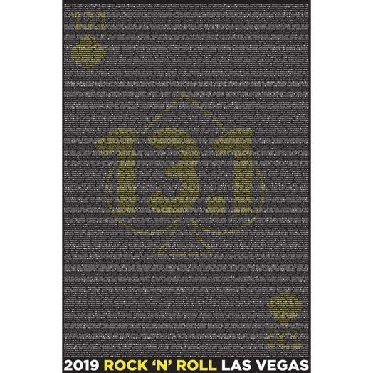 ROCK N ROLL MARATHON SERIES LAS VEGAS 2019 MEN'S 13.1K L-Z LONG SLEEVE NAME TEE
