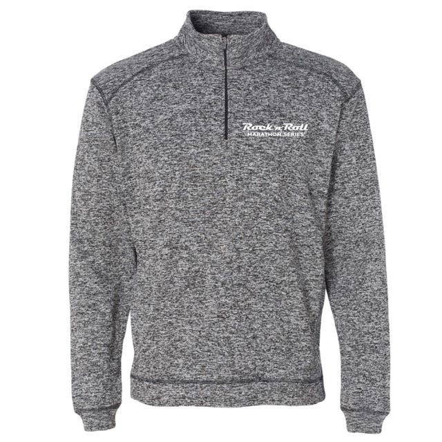 ROCK N ROLL MARATHON SERIES MEN'S HALF ZIP FLEECE - CHARCOAL