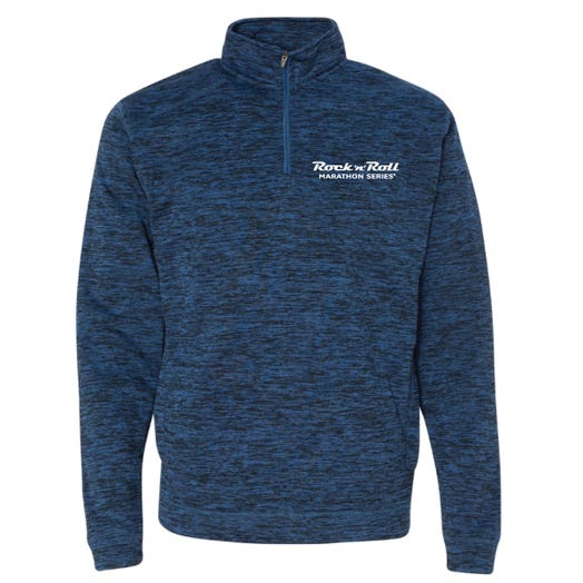 ROCK N ROLL MARATHON SERIES MEN'S HALF ZIP FLEECE - ROYAL