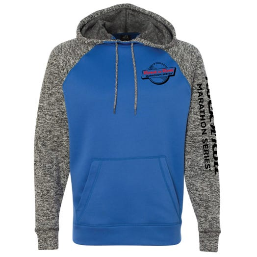 ROCK N ROLL MARATHON SERIES MEN'S RETRO HOODIE - ROYAL