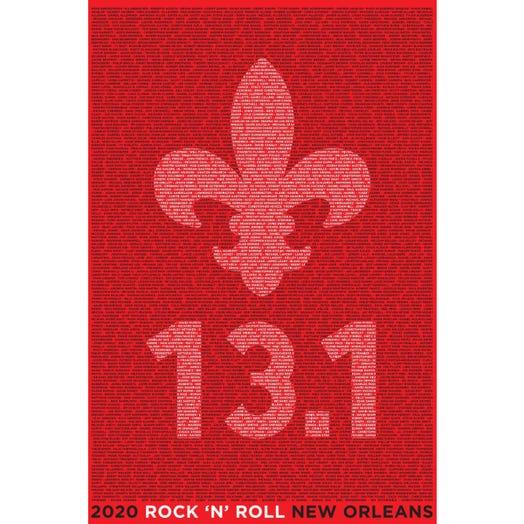 ROCK N ROLL MARATHON SERIES NEW ORLEANS 2020 MEN'S 13.1K LONG SLEEVE TEE
