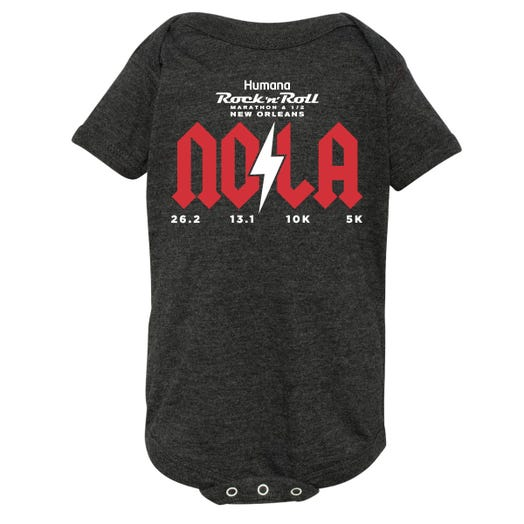 ROCK N ROLL MARATHON SERIES NEW ORLEANS 2020 TODDLER VINTAGE ONESIE