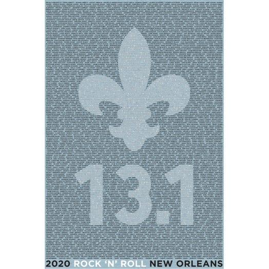 ROCK N ROLL MARATHON SERIES NEW ORLEANS 2020 WOMEN'S 13.1K A-K NAME TEE