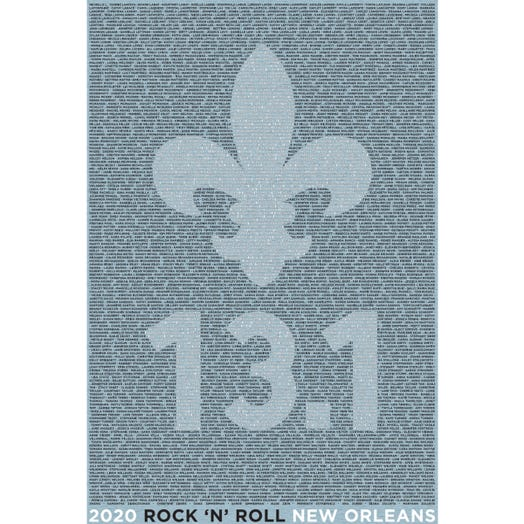 ROCK N ROLL MARATHON SERIES NEW ORLEANS 2020 WOMEN'S 13.1K L-Z NAME TEE