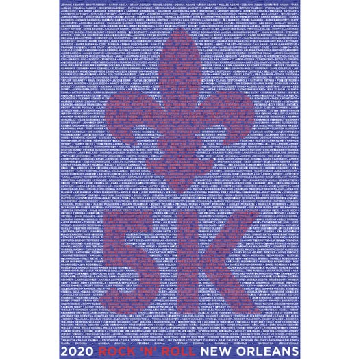 ROCK N ROLL MARATHON SERIES NEW ORLEANS 2020 WOMEN'S 5K NAME TEE