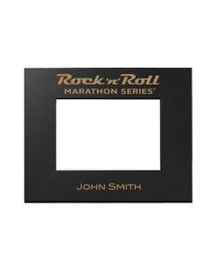 Rock n Roll Marathon Series Personalized Photo Frame - Black