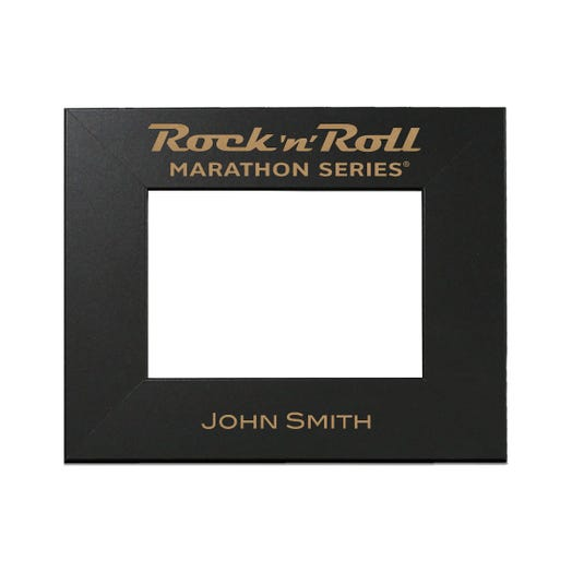 Rock n Roll Marathon Series Personalized Photo Frame - Black