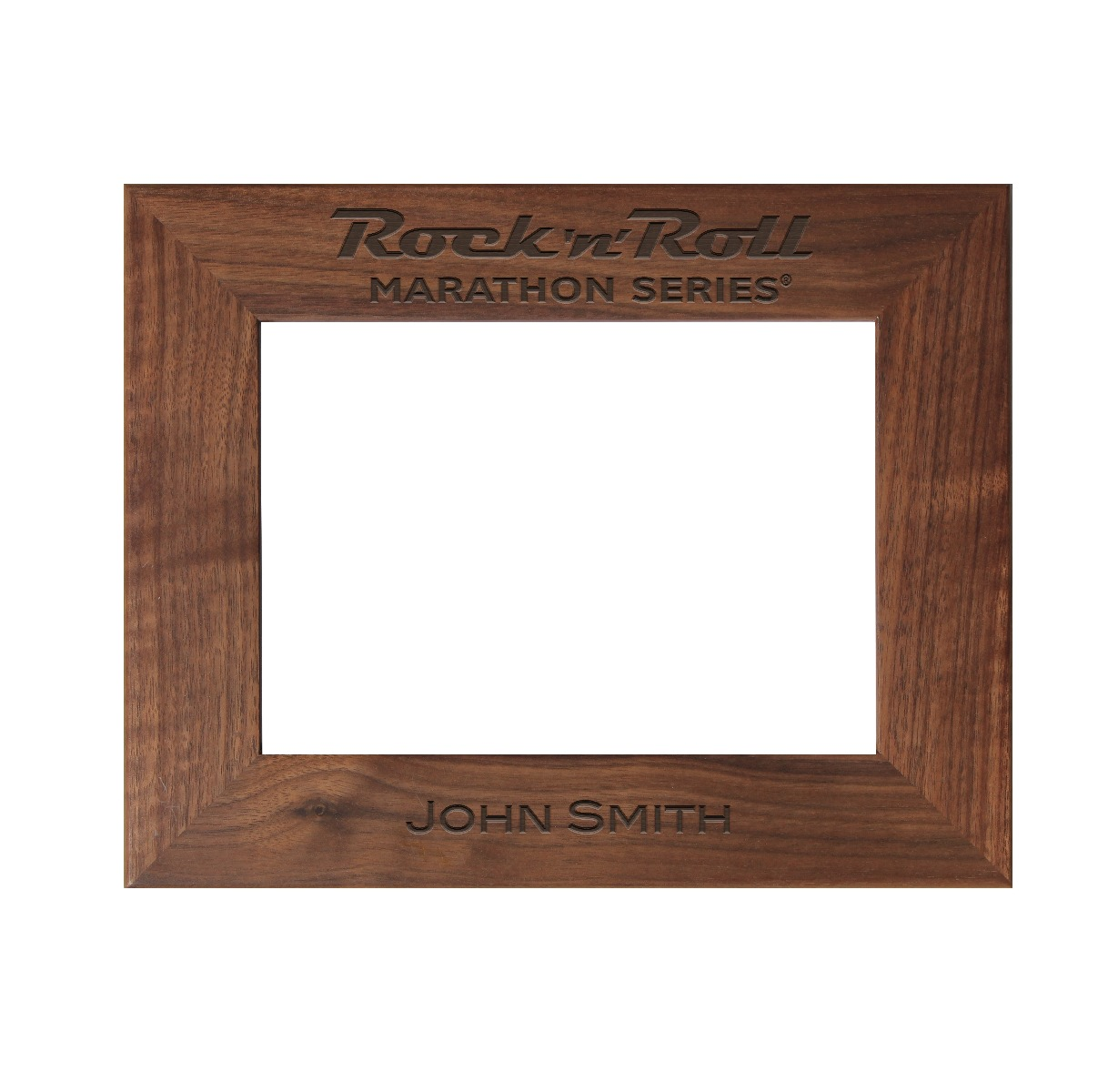 Rock n Roll Marathon Series Personalized Photo Frame - Walnut