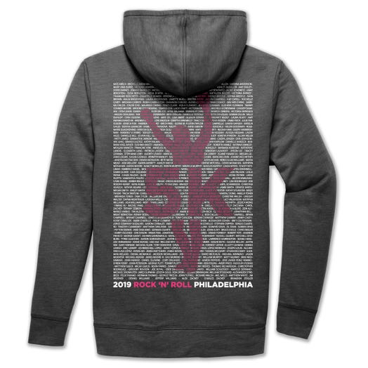 ROCK N ROLL MARATHON SERIES PHILADELPHIA 2019 WOMEN'S 5K NAME HOODIE