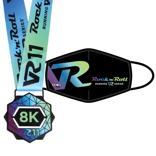 ROCK N ROLL VR11 8K FINISHER MEDAL