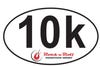 ROCK N ROLL MARATHON SERIES 10K STICKER AUTO EMBLEM