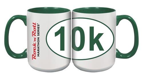 ROCK N ROLL MARATHON SERIES STICKER MUG 10K GREEN