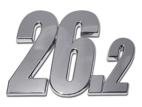 ROCK N ROLL MARATHON SERIES 26.2K SHINY CHROME AUTO EMBLEM