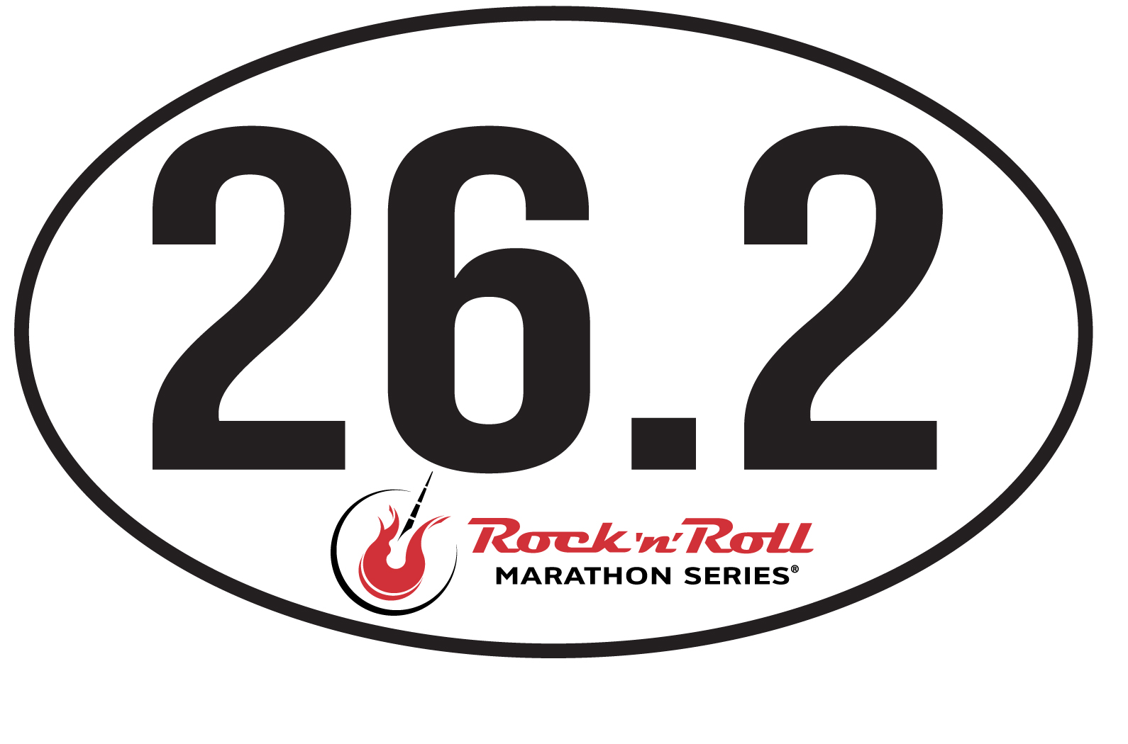ROCK N ROLL MARATHON SERIES 26.2 STICKER AUTO EMBLEM