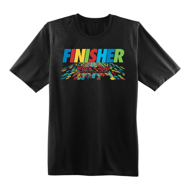 ROCK N ROLL MARATHON SERIES FINISHER  SS BLACK MENS