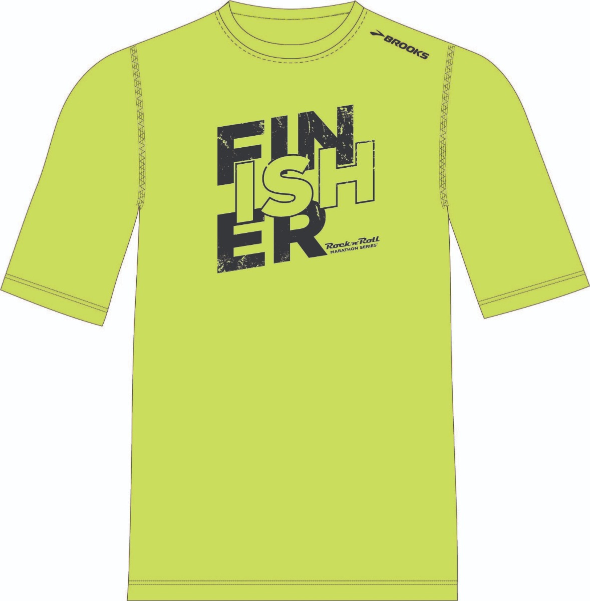ROCK N ROLL MARATHON SERIES FINISHER BLOCK SS MENS NIGHTLIFE