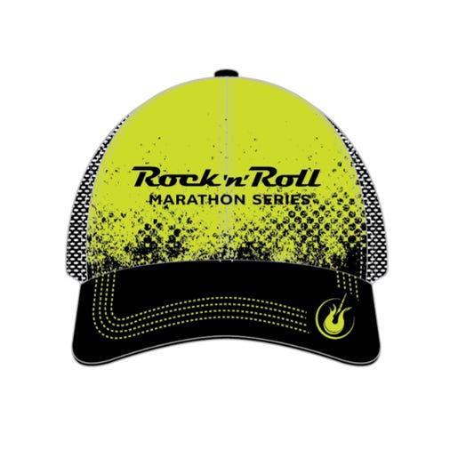 ROCK N ROLL MARATHON SERIES GRUDGE TRUCKER HAT LIME HAT