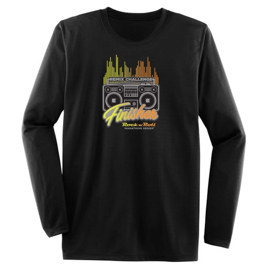 ROCK N ROLL MARATHON SERIES MEN'S REMIX FINISHER LONG SLEEVE TEE
